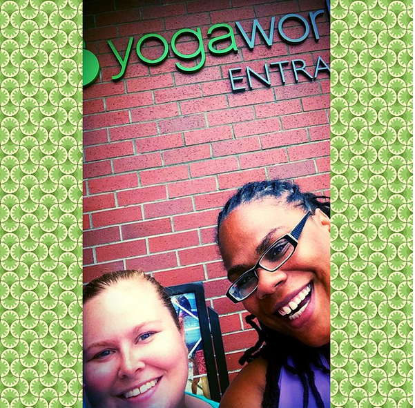 Amy and Morgan at YogaWorks