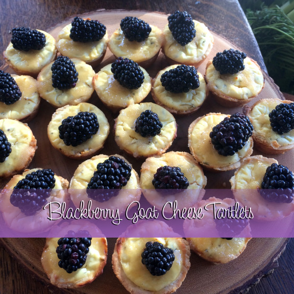 Blackberry Goat Cheese Tartlets