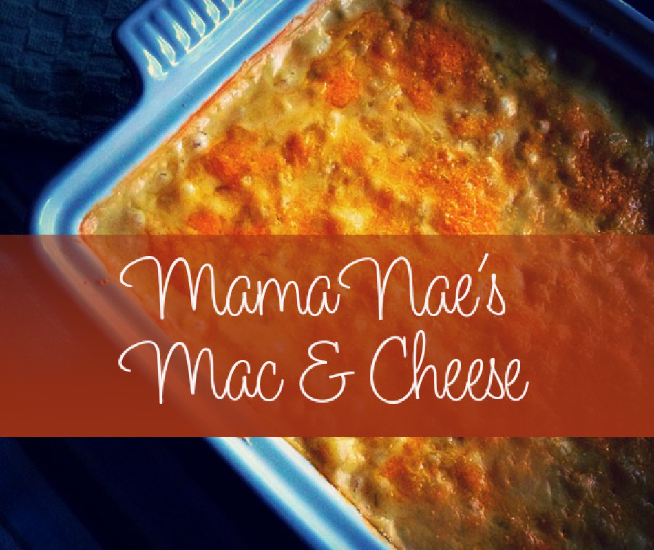 Mac and Cheese with text