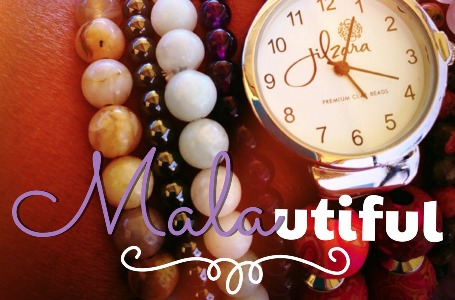 malas and wrist watch